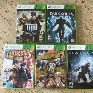 XBOX 360 Game Lot 4 used 1 factory sealed